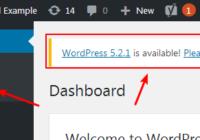 disable wordpress update notification