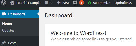 disable wordpress update notification effect