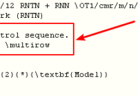 latex undefined control sequence multirow