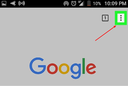 open android google chrome settings