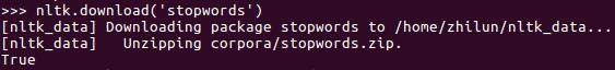 nltk download english stop words