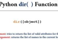python dir function