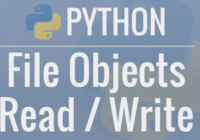 python file read and write