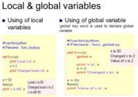 python global and local variable