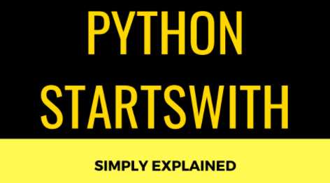 python startswith function