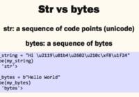 python string and bytes