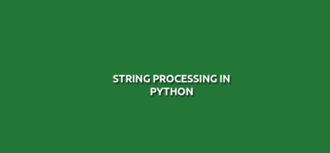 string processing in python