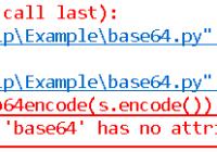AttributeError module 'base64' has no attribute 'b64encode'
