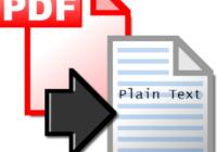 pdf to plain text