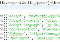 python OpenDirector http request header