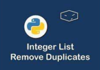 python remove duplicate elements from list