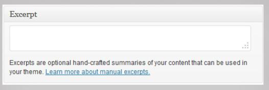 wordpress excerpt examples and tutorials