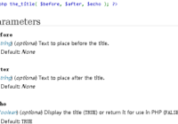 wordpress the_title() function tutorials and examples