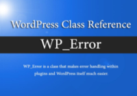 wp_error class examples