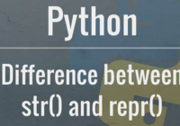 Difference between python str() and repr()