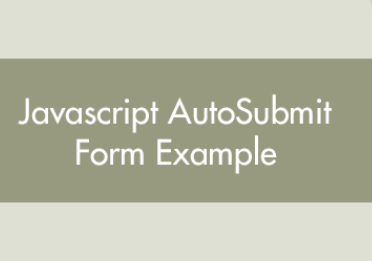 A Beginner's Guide to JavaScript Auto Submit HTML Form - JavaScript Tutorial