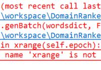 NameError - name xrange is not defined