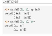 numpy.full() tutorials and examples