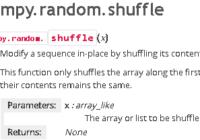 understand numpy.random.shuffle