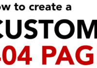 Set Custom 404 Page for Your Site Using .htaccess