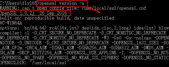 check openssl version on windows