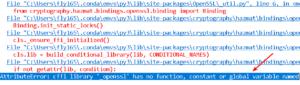 fix moviepy attributeerror - cffi library '_openssl' has no function
