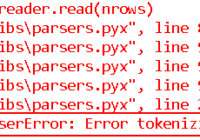 pandas.errors.ParserError - Error tokenizing data. C error