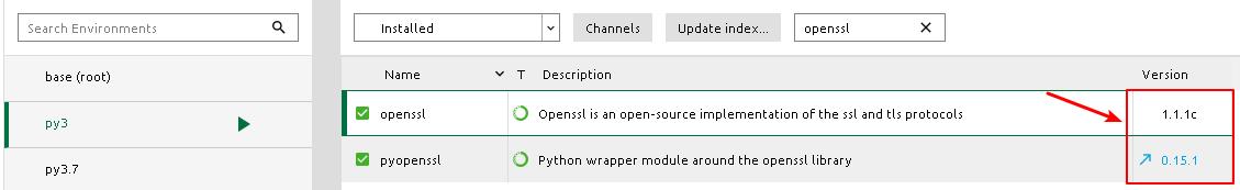 python 3.5 support openssl 1.1.1 version