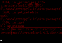 Fix pip install ERROR Error checking for conflicts
