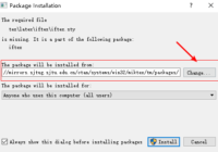 WinEdt Package Installation