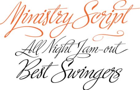 cursive font example