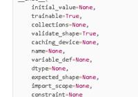 tf.Variable() defination