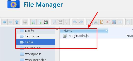 upload tinymce table plugin to wordpress