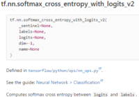 Understand tf.nn.softmax_cross_entropy_with_logits_v2()