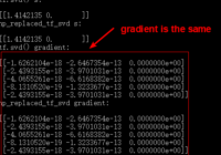 compute the gradient of tf.svd() in numpy