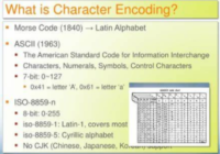 Character Encoding Example