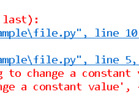 create a python constant variable with python class