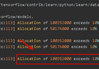 fix tensorflow Allocation exceeds 10% of system memory Error