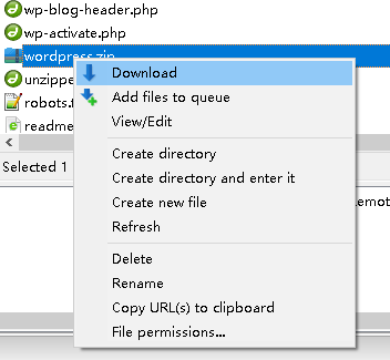FileZilla can not extract zip file on web hosting