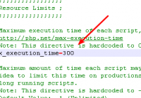 edit php.ini file to set php max_execution_time