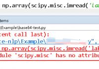 fix module scipy.misc has no attribute imread