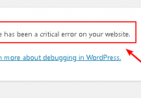 Fix there has been a critical error on your site in wordpress
