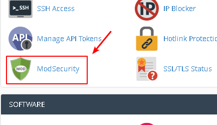 ModSecurity in cPanel