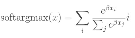 The formula of softargmax
