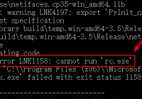 fix python pip install orange3 LINK - fatal error LNK1158 - cannot run rc.exe