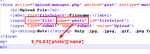 php $_FILES variable