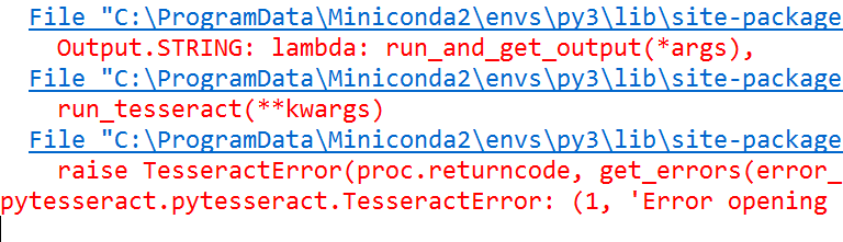 Fix TesseractError eng.traineddata Please make sure the TESSDATA_PREFIX environment variable - Python Tutorial
