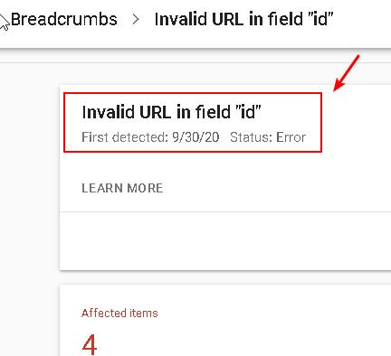 """Fix Google Breadcrumbs - Invalid URL in field """"id"""""""