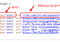 Load MathJax Script in your html page