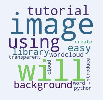 Python Create Transparent Background Word Cloud Image - Python Wordcloud Tutorial